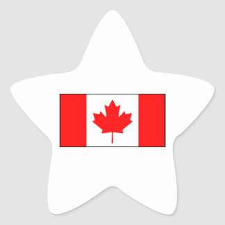 Canada - Canadian Flag Star Sticker