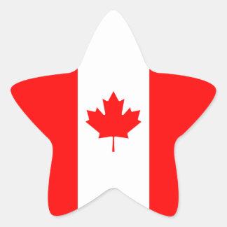Canada Canadian Flag Star Stickers