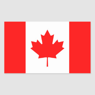 Canada/Canadian Flag Rectangle Sticker