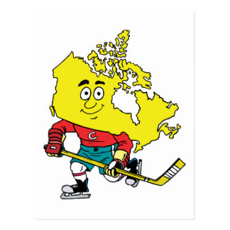 Canada Canadian Hockey Vintage Travel Souvenir Postcard