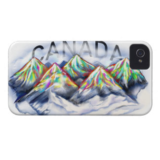 CANADA CANADIAN ROCKIES ABSTRACT COLORFUL MOUNTAIN iPhone 4 COVER