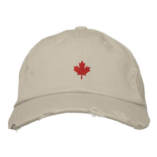 Canada Cap - Red Maple Leaf Hat Embroidered Baseball Caps