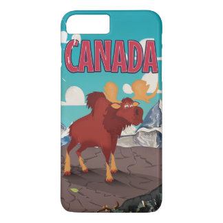 Canada Cartoon Vintage Poster iPhone 7 Plus Case