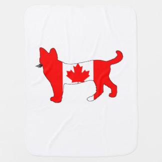 Canada Cat Baby Blanket