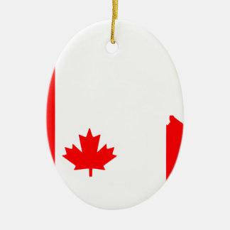 Canada Ceramic Oval Ornament