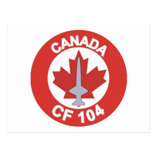 Canada CF-104 Postcard