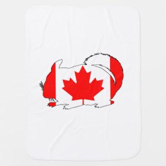 Canada Chinchilla Baby Blanket