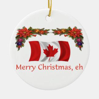 Canada Christmas Ceramic Ornament