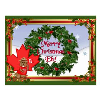 Canada Christmas Postcard
