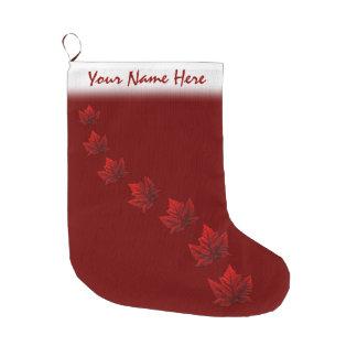 Canada Christmas Stocking Red Maple Leaf Stockings Large Christmas Stocking