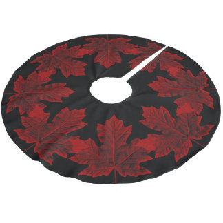 Canada Christmas Tree Skirt Cool Canada Maple Leaf Brushed Polyester Tree Skirt