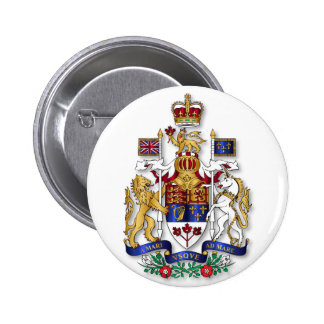Canada coat of arms 2 inch round button