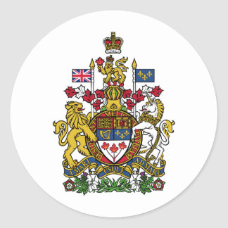 Canada Coat of arms CA Round Sticker