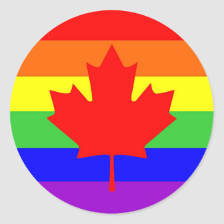 canada country gay proud rainbow flag stickers