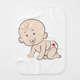 Canada Crawling Baby Graphic Burp Cloth