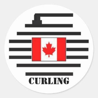Canada Curling Round Sticker