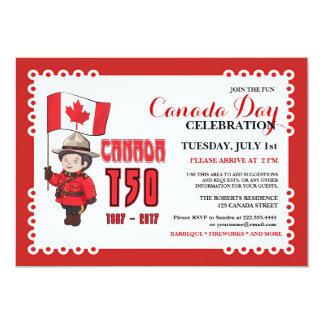 Canada Day 150 BBQ Celebration Invitation