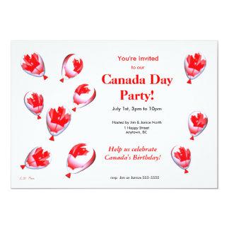 Canada Day Balloons Card