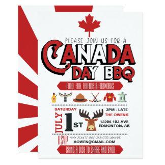 Canada Day BBQ Party Invitation