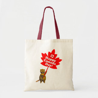 Canada Day Beaver and Maple Leaf