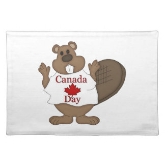 Canada Day Beaver Home Decor Placemats