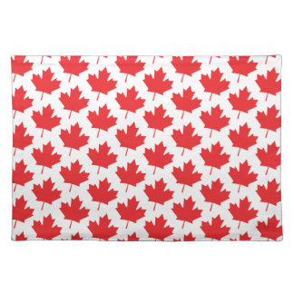 Canada Day Big Canadian Flag Maple Leaf Placemat