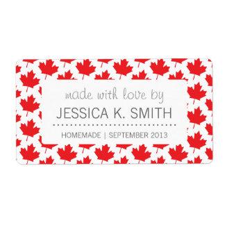 Canada Day Big Canadian Flag Maple Leaf Shipping Label