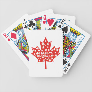 Canada Day Celebration Bicycle Playing Cards