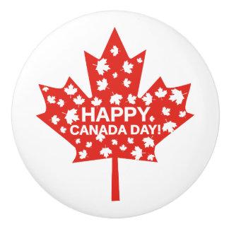 Canada Day Celebration Ceramic Knob