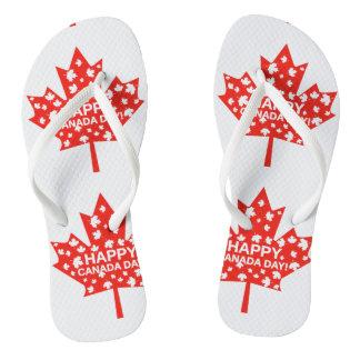Canada Day Celebration Flip Flops