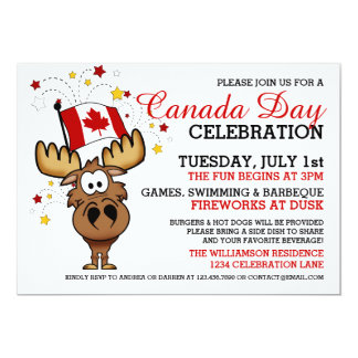 Canada Day Celebration Invitation