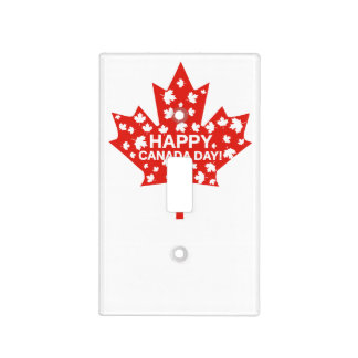 Canada Day Celebration Light Switch Cover