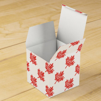 Canada Day Celebration Party Favor Boxes