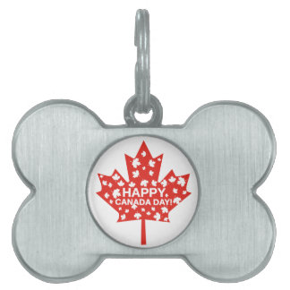 Canada Day Celebration Pet Name Tag