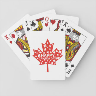 Canada Day Celebration Playing Cards