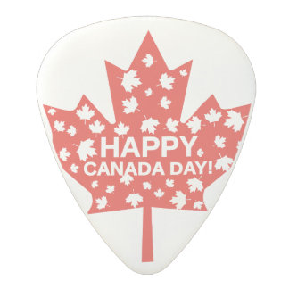 Canada Day Celebration Polycarbonate Guitar Pick
