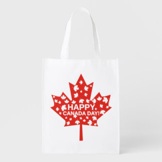 Canada Day Celebration Reusable Grocery Bag