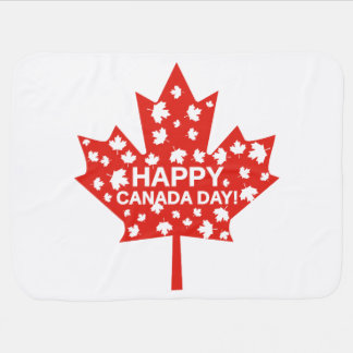 Canada Day Celebration Swaddle Blankets