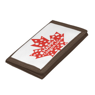 Canada Day Celebration Trifold Wallet