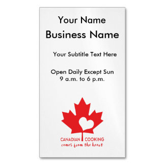Canada Day Gourmet Business Card Magnet