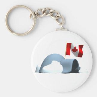 Canada Day Igloo Keychain