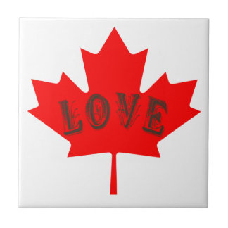 Canada Day  maple leaf love custom tile