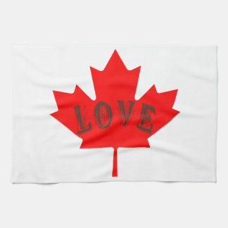 Canada Day  maple leaf love custom towel
