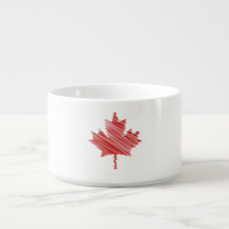 Canada Day maple leaf red & white flag Bowl
