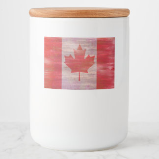Canada Day maple leaf red & white flag Food Label