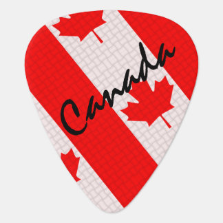 Canada Day maple leaf red & white flag Guitar Pick