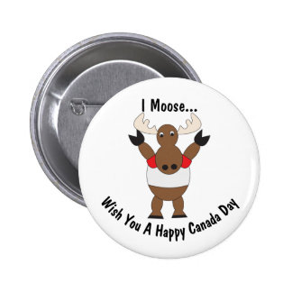 Canada Day Moose Customizable 2 Inch Round Button