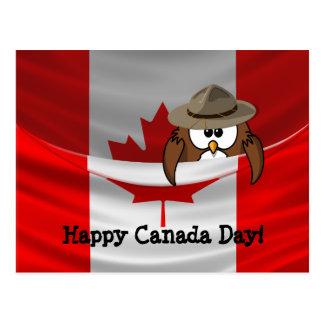 Canada Day owl Postcard