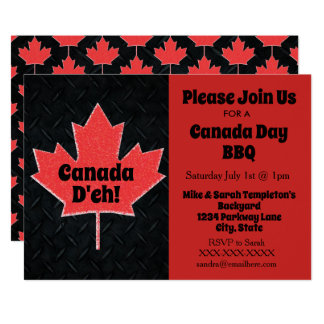 Canada Day Party Invitations