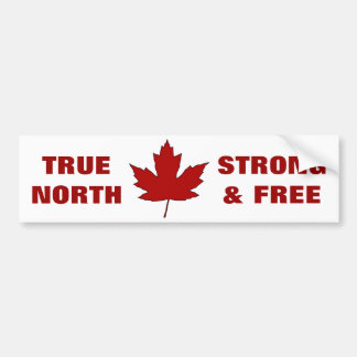 Canada Day Red Maple Leaf Anthem Bumper Sticker